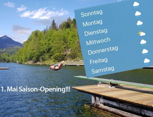 Badesaison-Eröffnung am 1. Mai
